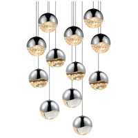 Sonneman Grapes 12 Light LED Cluster Pendant in Polished Chrome 2917.01-LRG