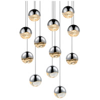 Sonneman 2917.01-MED Grapes LED 16 inch Polished Chrome Cluster Pendant Ceiling Light in Clear Glass Lens