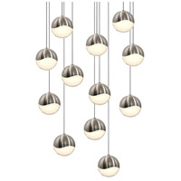 Sonneman Grapes 12 Light LED Cluster Pendant in Satin Nickel 2917.13-MED