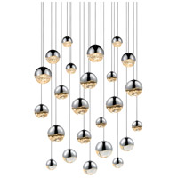 Sonneman Grapes 24 Light LED Cluster Pendant in Polished Chrome 2918.01-AST