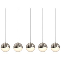 Sonneman Grapes 5 Light LED Cluster Pendant in Satin Nickel 2921.13-LRG