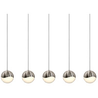 Sonneman Grapes 5 Light LED Cluster Pendant in Satin Nickel 2921.13-MED