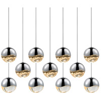 Sonneman Grapes 11 Light LED Cluster Pendant in Polished Chrome 2922.01-LRG