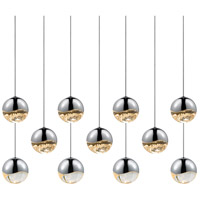 Sonneman Grapes 11 Light LED Cluster Pendant in Polished Chrome 2922.01-MED