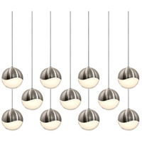 Sonneman Grapes 11 Light LED Cluster Pendant in Satin Nickel 2922.13-LRG