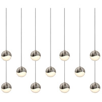 Sonneman Grapes 11 Light LED Cluster Pendant in Satin Nickel 2922.13-SML
