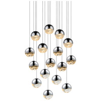 Sonneman Grapes 16 Light LED Cluster Pendant in Polished Chrome 2923.01-LRG