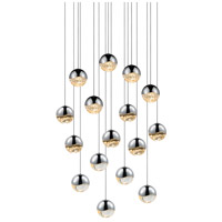 Sonneman Grapes 16 Light LED Cluster Pendant in Polished Chrome 2923.01-MED