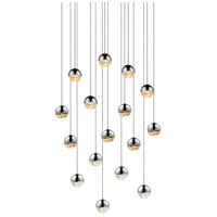 Grapes LED 23 inch Polished Chrome Cluster Pendant Ceiling Light in Clear Glass Lens