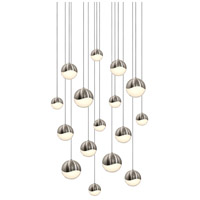 Sonneman Grapes 16 Light LED Cluster Pendant in Satin Nickel 2923.13-AST