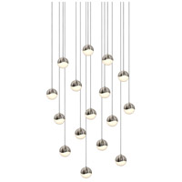Sonneman Grapes 16 Light LED Cluster Pendant in Satin Nickel 2923.13-SML