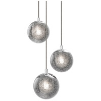 Champagne Bubbles LED 9 inch Polished Chrome Pendant Ceiling Light