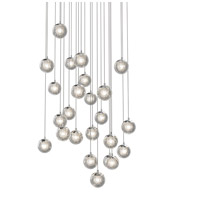 Champagne Bubbles LED 27 inch Polished Chrome Pendant Ceiling Light