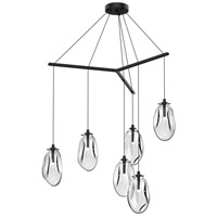Liquid LED 39 inch Satin Black Pendant Ceiling Light in Clear Glass