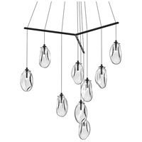 Liquid LED 51 inch Satin Black Pendant Ceiling Light in Clear Glass