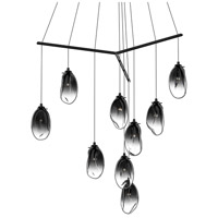 Liquid LED 51 inch Satin Black Pendant Ceiling Light in Smoke Fade Glass