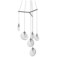 Cantina LED 42 inch Satin Black Pendant Ceiling Light in Clear Glass