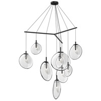 Cantina LED 57 inch Satin Black Pendant Ceiling Light in Clear Glass