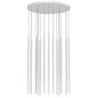 Sonneman 3019.03-32 Light Chimes LED 25 inch Satin White Pendant Ceiling Light