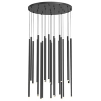 Sonneman 3019.25-AST Light Chimes LED 25 inch Satin Black Pendant Ceiling Light