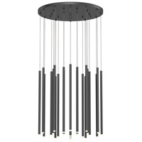 Sonneman 3019.25-24 Light Chimes LED 25 inch Satin Black Pendant Ceiling Light