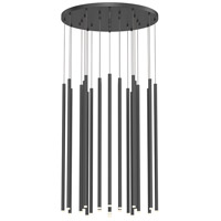 Sonneman 3019.25-32 Light Chimes LED 25 inch Satin Black Pendant Ceiling Light