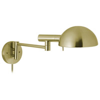 Sonneman E-Dome 1 Light Sconce in Satin Brass 3042.38