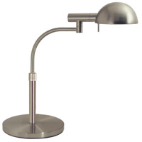 Sonneman E-Dome 1 Light Table Lamp in Satin Nickel 3043.13