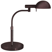 E-Dome 20 inch 75 watt Rose Bronze Table Lamp Portable Light