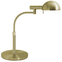 Sonneman E-Dome 1 Light Table Lamp in Satin Brass 3043.38