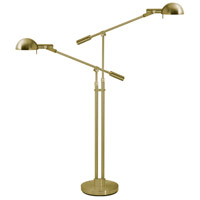 Sonneman E-Dome 2 Light Floor Lamp in Satin Brass 3046.38
