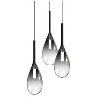 Sonneman Satin Black Metal Parisone Pendants