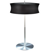 Sonneman Lightweights 2 Light Table Lamp in Satin Aluminum 3130.10K