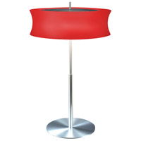 Sonneman Lightweights 2 Light Table Lamp in Satin Aluminum 3130.10R