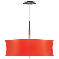 Sonneman Lightweights 2 Light Pendant in Satin Aluminum 3136.10R