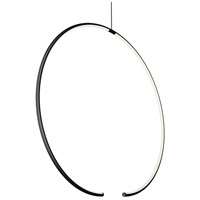 Sonneman 3151.25 Torc LED 25 inch Satin Black Pendant Ceiling Light