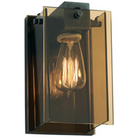 Sonneman Bronze Age 1 Light Sconce in Black Brass 3160.51
