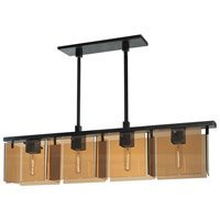Sonneman Bronze Age 4 Light Pendant in Black Brass 3164.51