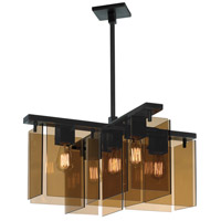 Sonneman Bronze Age 5 Light Pendant in Black Brass 3165.51