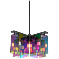 Sonneman Dichroix 5 Light Pendant in Black Brass 3175.51