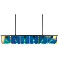 Dichroix 6 Light 59 inch Black Brass Pendant Ceiling Light