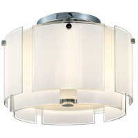 Velo 2 Light 17 inch Polished Chrome Pendant Ceiling Light