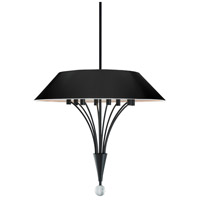 Sonneman Fontana 8 Light Pendant in Satin Black 3195.25