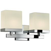 Sonneman 3232.01 Cubist 2 Light 15 inch Polished Chrome Bath Light Wall Light in 14.5 in. photo thumbnail