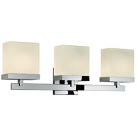 Sonneman Cubist 3 Light Bath Light in Polished Chrome 3233.01 photo thumbnail
