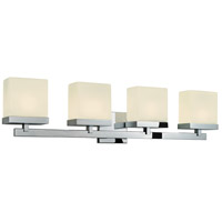 Cubist 4 Light 33 inch Polished Chrome Bath Light Wall Light in 32.5 in.