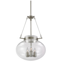 Sonneman Venezia 3 Light Pendant in Satin Nickel 3296.13