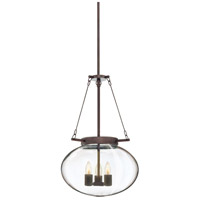 Sonneman Venezia 3 Light Pendant in Rubbed Bronze 3296.24