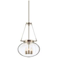 Venezia 3 Light 15 inch Polished Nickel Pendant Ceiling Light