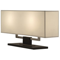 Sonneman Hanover 2 Light Table Lamp in Black Nickel 3312.50